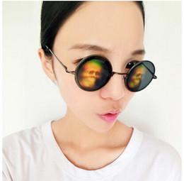 Wholesale John Lennon Style Sunglasses - Wholesale-John Lennon Style Hologram Poker Eye Glasses 3D Sunglasses Novelty Funny Eyeglasses (Dollar&Lizard Eye&Skull&Love)