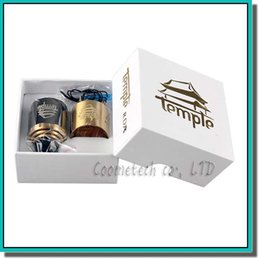 Wholesale Ecig Atomizer Free Shipping - 26650 Temple RDA Clone Rebuildable Ecig DIY Atomizer 30mm Diameter Dual Post Atty With Extra AFC Ring PEEK Insulator Free Shipping