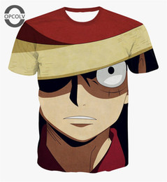 Une pièce animée short t shirts en Ligne-w1215 OPCOLV Cartoon characters One piece Printed 3d T shirts Fashion Men Women t shirts Anime Short Sleeve Luffy Cosplay T shirt Top