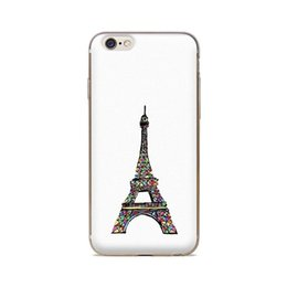 Wholesale Eiffel Tower Backgrounds - Wholesale For iPhone 4 4S 5 5S 5C 6 6S 6Plus Eiffel Tower White Background Of Skin TPU Silicone Gel Protective Cover