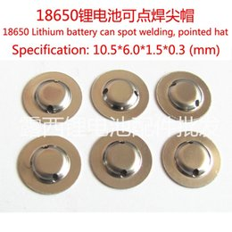 Wholesale Welding Component - 18650 battery anode Cap steel spot welding pointed Cap Hat light flashlight battery components