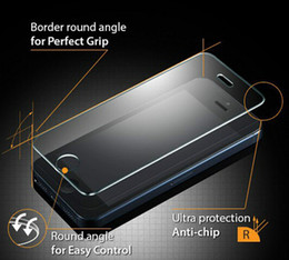 Wholesale Glass Screen Protector Iphone5 - Dropship!! Screen Protector Tempered Glass For iphone5 iphone5s iphone4 4s Protect film With retail package box