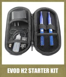 Evod h2 kit online-Das Starter-Kit für die Zigarette Double Evod Battery mit GS h2-Zerstäuber 2,0 ml 510 Gewinde für 650/900/1100 MAH-Batterie mit Reißverschlussetui YA0780