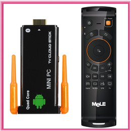 Wholesale Quad Core Android Stick - Quad core J22 CX-919II RK3188 Dual Bluetooth Android 4.4.2 2GB 8GB Dongle Mini PC Stick TV Box + Mele F10 Deluxe Keyboard mouse