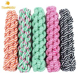 Wholesale Dog Tug Rope - 21cm Rope Dog Tug Toys Pets Puppy Chew Braided Tug Toy For Pets Dogs Training Bait Toys