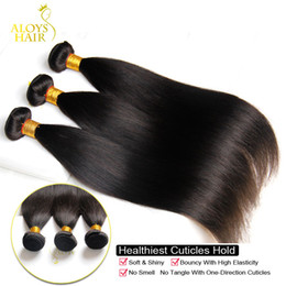 hair straightening machines Promo Codes - 100% Virgin Human Hair Weave Bundles Unprocessed 8A Grade Brazilian Peruvian Malaysian Indian Cambodian Straight Hair Extensions 3 4 5pc lot