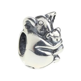Wholesale moms hole - Beads Hunter Jewelry Authentic 925 Sterling Silver Koala Mom & Baby Charm fashion jewel big hole bead For 3mm European Bracelet snake chain