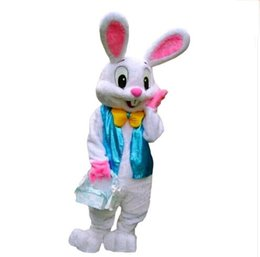 Wholesale Ems Free Chiffon - 2016 Sell Like Hot Cakes Professional Easter Bunny Mascot costume Bugs Rabbit Hare Adult EMS free shipping