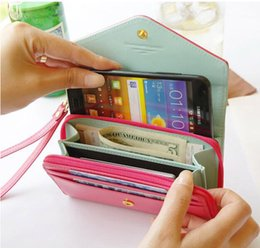 Wholesale Crown Pouch Flip - 2015 Donbook Crown Smart Pouch Purse Coin Bag Flip PU Leather Case Women Wallet For IPhone 4S 5S 6 plus Samsung S6 edge S5 note 3 4 HTC Sony