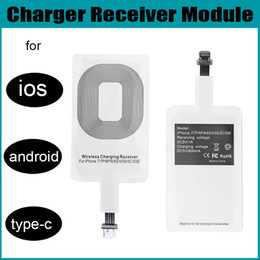 Wholesale Thin Qi Charger - Qi Wireless Fast Power Charger Micro Receiver Module For iPhone Android Type C Ultra thin lightweight
