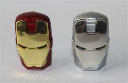 100% réel 8 Go 16 Go 32 Go LED Iron Man Head USB 2.0 USB Flash Drive Stylo Grade A Disques Memory Stick pour iOS Windows Android ? partir de fabricateur
