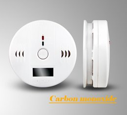 Wholesale Alarm Detectors - Home Security Carbon monoxide detector Alarm CO Alarm Gas Detector Alarm Work Include 3pcs AA Battery CE