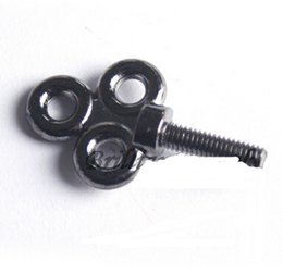Wholesale Tattoo Vice Screw - New 1pcs Black Tattoo Machine Parts Three Rounds Vise Vice Tube Screw Tattoo & Body Art