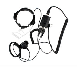 Wholesale Kenwood Radio Mic - New PTT Military Police Equipment Throat Mic Air Tube Headset for Kenwood TH-F7 Walkie talkie two way radio C0038A Alishow