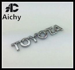 Wholesale Chrome Letter Decals - Toyota letter Styling Rear Badge Logo Chrome Auto Trunk Emblem Letter Modified Accessories 3D Decal