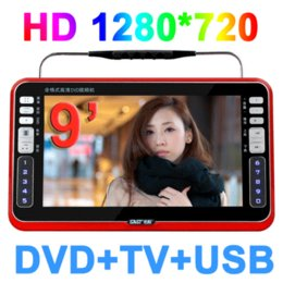 Wholesale Full Albums - 2014 Limited Tv Portatil free Shipping Sast 9 Inch Portable Dvd Vcd Cd Mp3 Mp4 Player + Tv +av Input Electronic Album