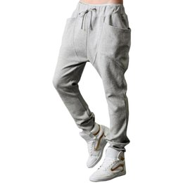Wholesale Casual Dance Baggy Trousers - S5Q Mens Casual Loose Harem Baggy Jogger Hip-hop Dance Sportswear Trousers Pants AAAEXX