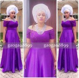 Wholesale Ivory Wedding Dresse Short - 2017 Saudi Arabic Purple Bridesmaid Dresses Wedding Guest Dresse Lace Off The Shoulder Short Sleeves Maid Of Honor Gowns Women