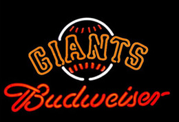 """Wholesale Giant Sign - Budweiser SF Giants Neon Sign Beer Bar Store KTV Club Pub Disco Commercial Handmade Custom Real Glass Tube Neon Signs 19""""X15"""""""