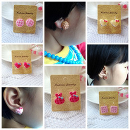 Wholesale Earring Backs Babies - FG1509 2014 new Children's earrings clip earrings wholesale earrings cartoon earring wholesale baby jewelry Birthday Gifts