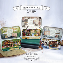 Wholesale Dollhouses Miniatures - 2018 Dollhouse Miniature Box Theatre Idea Gift Box Theater Handmade Theme Creative DIY Cute Room Art Handicraft Gifts for Girl's toy004