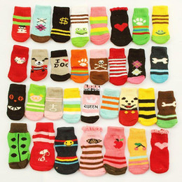 Wholesale Pets Products Shoes - Sale! Armi store Pet Dog Sock 11022 Fashion Design Wholesale Warm Socks For Dogs Products Latex Skid-proof 6 Sets Lot = 24 Pcs