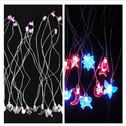 Wholesale Christmas Flashing Light Necklace Wholesale - 2015 Unique Pegasus new flashing light emitting crystal necklace Led toys party toys gift funny Christmas