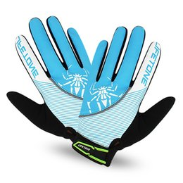 Wholesale Women Gel Cycling Gloves - New Full Finger Cycling Gloves Gel Mountain Bike Bicycle Gloves for Woman Downhill MTB Road Racing Sport Gloves Red Blue Pink S M L XL