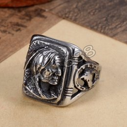 Wholesale Womens Silver Biker Rings - Mens 361L Stainless Steel Ring, Viantage, Biker, Silver, Womens Portrait Size 7-13
