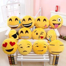 Almofada cute lindo emoji smiley travesseiros on-line-9 estilos de Diâmetro 30 centímetros Cushion bonito Almofada Adorável Emoji Smiley Almofadas dos desenhos animados Almofadas redonda amarela Almofada Bicho de Pelúcia Plush