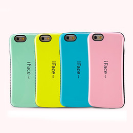 Wholesale Iface Cover Case - iface Cases For iPhone 7 6 Plus TPU PC Material Back Covers With Button Slots OPP Bags 12 Colors DHL Free SCA062