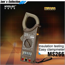 Wholesale Insulation Testers - Free shipping HYELEC MS266 equal to DT266 electric tester Insulation resistance clamp ammeter pinzas amperimetricas