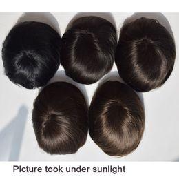 Wholesale Fine Human Hair - Large stock Fine Mono with Skin Around , Human Hair Men toupee , hair replacement Men Toupee fast free shipping