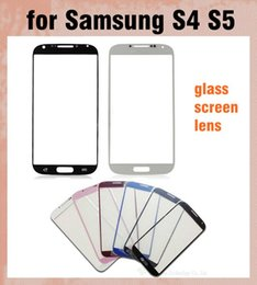 Wholesale S4 Lenses - Outer Front Glass Lens Screen Digitizer Touch Screen Cover touch panel screen protector For Samsung Galaxy S4 S5 Multi color SNP009