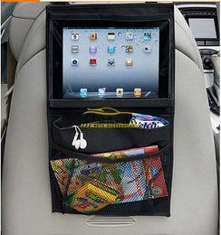 Wholesale Back Bag Kids - Auto Back Seat Organizer Ipad Holder Multi-Pocket Travel Storage Hanging Bag Diaper Bag Baby Kids Car Seat Ipad Holder