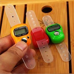 Wholesale Mini Digital Counters - Mini Digit LCD Electronic Digital Manual electronic counter FingerRing Tally Counter Free Shipping #L0192623