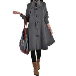 Wholesale Korean Winter Coats For Women - 2015 New Winter trench Korean yards loose woolen cape women trench coat casual female outwear windbreaker for women CT2