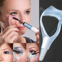 Wholesale Lash Comb Curler - New Fashion 3 in 1 Lot Mascara Eyelash Brush Curler Lash Comb Cosmetic 12pcs lot