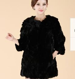 Wholesale Otter Coats - Wholesale-leather coat In 2015 the new real fur couture otter rabbit hair long real fur coat