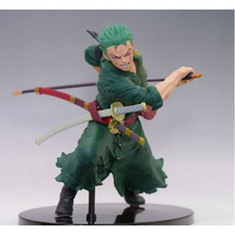 Wholesale One Piece Figure Model - Anime One Piece Roronoa Zoro figure PVC Action Figure Model Toy approx 18cm good kids toy with box or opp bag