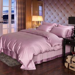 Wholesale Cartoon Taro - Luxury 100% Egyptian cotton bedding sets bed sheets taro purple queen duvet cover king size quilt double bedsheet bedspread linen gift
