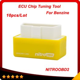 Wholesale Hot Honda Cars - 2016 Hot Sale NitroOBD2 Benzine Car Chip Tuning Box Plug and Drive OBD2 Chip Tuning Box More Power   More Torque 10pcs lot DHL free