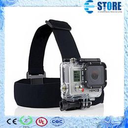 Wholesale Gopro Belt - Gopro Accessories Elastic Adjustable Nylon Head Strap Belt Head Band Mount Adapter for Camera HD Hero 1 2 3 3+ sj4000