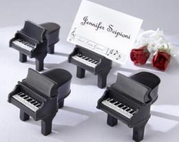 Wholesale Unique Place - Small Wholesales+Unique Style Piano Design Resin Place Card Holders Wedding Decoration Favor 20pcs LOT Event & Party Supplies
