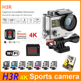 """Wholesale Remote Control Viewing - Waterproof Sport Cam H3R H3 + remote control 4K Ultra HD Action Cameras Diving Wifi 1080P 30M 2.0"""" 170° View Dual screen DV HDMI 10pcs"""