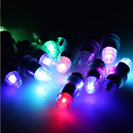 Wholesale Christmas Electric Light Wholesalers - 12pcs LED Lamp Lights Balloons for Paper Lantern Balloon Party Decoration RGB Wedding Christmas Decorations Holesale