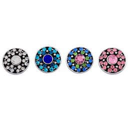 Wholesale Round Rhinestone Buttons 12mm - Woman Fashion Jewelry NOOSA Amsterdam 12mm mini rhinestone round vintage noosa Interchangeable Snap Buttons DIY Jewelry Ginger Snap 4 colors
