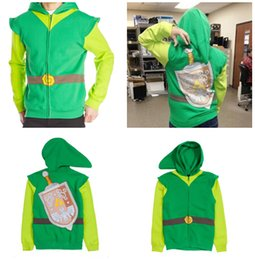 Wholesale Legend Zelda Hoodie - The Legend of Zelda Cosplay Costume Zelda cosplay hoodies link cosplay hoodies legend of zelda link costume S-M-L-XL-XXL D301 1