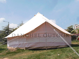 Wholesale Wall Tents - Wholesale- DANCHEL Double layer Mosquito proof two wall bell tent, size 4m 5m