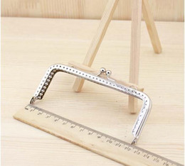 Wholesale Diy Clutch Bag - Wholesale-6pcs lot 6.5 8.5 10 12 15 18cm DIY Purse Bag Coin Purse Frame Silve Metal Clasp bag clutch Accessories sewing bag handle